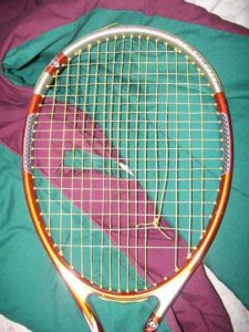 Broken Tennis Strings